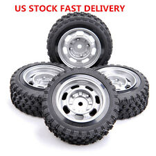 Us 4Pcs 12mm Hex Rubber Rally Tires&Wheel Rim For Hpi Hsp 1:10 Rc Racing Car