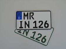EU-Traktor/Trecker-Kennzeichen, Leichtkraftrad, Nummernschild, Wunschkennzeichen