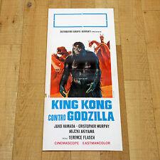KING KONG CONTRO GODZILLA locandina poster Terence Flasch Juko Hamada AH61