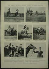 Kings Royal Rifles Point To Point Layer De La Hay 1908 1 Page Photo Article