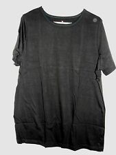Women's Woman Within Crew Neck Black T-Shirt - Size Large (18W-20W) - NWOT