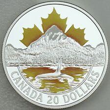 2017 $20 Canada's Coast Series: Pacific Coast, 1 oz Pure Silver Color Proof