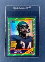 2001 Walter Payton Topps Archives 1986 Refractor Parallel Card Bears HOF