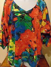 Parsley & Sage Top Women's  Multi Color Blouse Size LARGE