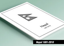 PRINTED NEPAL 1881-2010 STAMP ALBUM PAGES (98 pages)