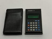 Rare Vintage 1970's Hanimex 2103 Calculator With Leather Case *Tested & Works*
