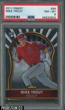 2011 Topps Finest #94 Mike Trout Angels RC Rookie PSA 8 NM-MT