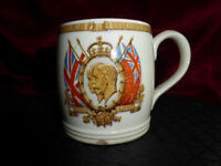 Vintage King George V Queen Mary 1910-35 Silver Jubilee MUG Royal Memorabilia V4