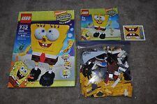 LEGO SPONGEBOB SQUAREPANTS 3826 BUILD-A-BOB COMPLETE SET WITH BOX & MANUAL