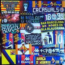 100 x Pegatinas Barcelona inspirado por Ultras la bufanda, pin y póster FC FCB