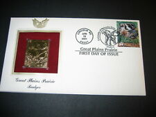 2001 Great Plains Prairie Badger 22kt Gold Golden Cover replica FDC FDI Stamp