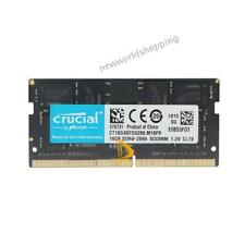 Crucial 16GB 2RX8 DDR4-2666V PC4-21300 1.2V SO-DIMM Laptop Memory RAM for Intel