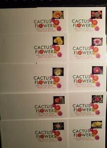 CACTUS FLOWERS US #5350-5359 NATURE 10 XF FOREVER STAMP DCP FIRST DAY COVERS NIP
