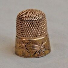 Vintage 14K Yellow Gold Sewing Thimble