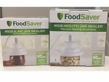 New listing FoodSaver vacuum jar sealer Set, Regular&Wide Mouth with hose