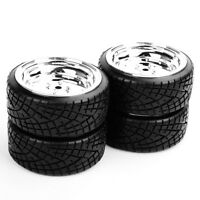 4PCS Tires&Wheel Rims 12mm Hex  For HPI HSP RC 1:10 On-Road Drift Model Car