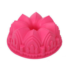 Fashion Crown Castle Silicone Cake Mold DIY 3D Birthday Cake Pan Decorating Tool
