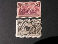 **UNITED STATES, SCOTT # 236/237(2), 1893 COLOMBIAN EXPOSITION ISSUE USED