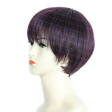 Wiwigs Lovely Short Straight Dark Burgundy & Purple Skin Top Ladies Wig