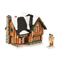 Department 56 Snow Woody Retreat Village Lit Building Multicolor 4056683