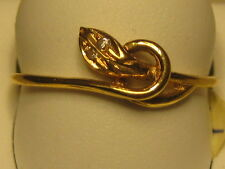 19k Yellow gold snake ring from Portugal      #06-062