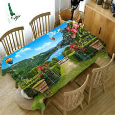 Idyllic Beauty 3D Tablecloth Table cover Cloth Rectangle Wedding Party Banquet