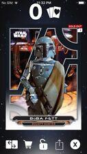 Topps Star Wars Digital Card Trader Galactic Files ESB Boba Fett Insert Award