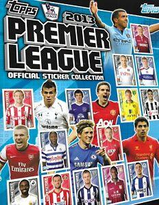 Topps Premier League 2013 STICKER ALBUM             CHOOSE