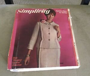 VINTAGE SIMPLICITY SEWING PATTERNS STORE COUNTER ORDER CATALOG BOOK 1966