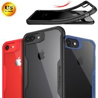 For iPhone X 8 7 Plus Mosafe® Shockproof Clear Slim Protective Hard Case Cover