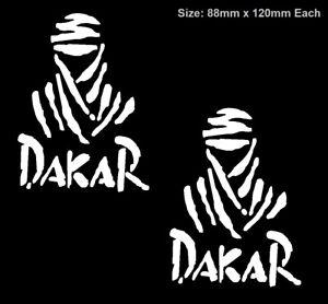 2x DAKAR Sticker Decal Vinyl Rally Car Ute 4x4 Motorcycle Bike Truck Off Road