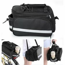 Bicycle Bike Rear Rack Bag - Removable Carry Carrier Saddle Bag Pannier UK