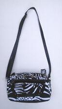 Jaclyn Smith Elegant Black White Fabric Vinyl Women Hand Bag Crossbody Purse NWT