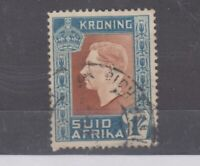 South Africa 1937 1/- No Hyphen Error SG75a Fine Used JK2589