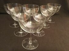 SET OF 7 BACCARAT CRYSTAL RABELAIS OVERSIZED GORMET MAGNUM WINE GLASSES GOBLETS
