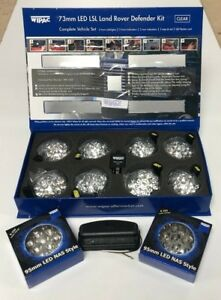 LAND ROVER DEFENDER LED WIPAC DELUXE CLEAR UPGRADE LAMP LIGHT KIT DA1291