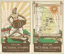 Ceylon Pictorial Stamps Issue 4th February, 1950 advertising Pamplet Rarely seen
