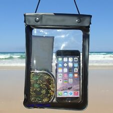 WATERPROOF CASE Dry Bag 17x25cm Boat Kayak Fishing Beach SUP Stand up Paddle