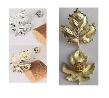 MAPLE LEAF TIE TACK - GOLD or SILVER - GIFT BAG - FREE UK P&P........W1366/1368