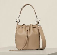 AllSaints Ray Small Bucket Bag in Sand (Shoulder/Mini/Ladies/Womens/Leather)