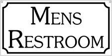 Mens Restroom- 6x12 Aluminum house hotel bar man cave sign