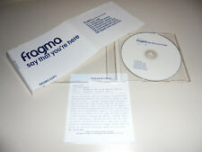 Promo Single CD Fragma - Say that you´re here  6.Tracks 2001 177
