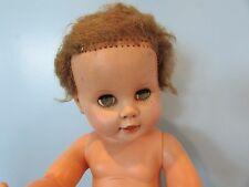 "Vintage 14"" vinyl Drink Wet Baby Doll Marked 14 - 5W green eyes"
