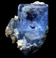 46.4g Rare Transparent Blue Cube Fluorite Mineral Crystal Specimen/China  Y01060
