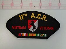 "Army 11th Armor A.C.R. Vietnam Veteran Hat Patch 5-1/2 x 3"""