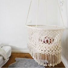 CA Cradle Hanging Hammock Baby Girl Boy Pure Cotton Knit Baby Crib 90x55x34cm
