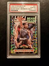 1992 Stadium Club Beam Team Shaquille O'neal  MEMBERS ONLY  Rookie RC PSA 10