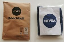 2 Stück Nivea Beachball Wasserball Strandball aufblasbar Neu OVP Blau