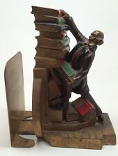 ANTIQUE K&O CO. Struggling Librarian Rare Expanding Style SCULPTURE BOOKEND