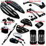 Heel Shift Lever Peg+F&R Floorboard +Mirrors +Pedal Set For Harley Touring FLH/T